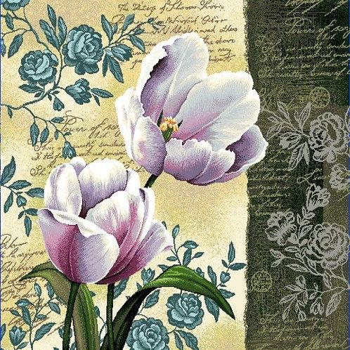 Carré - Fleurs violettes