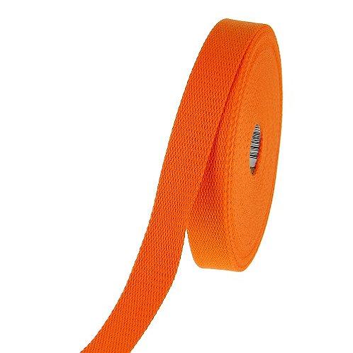 Sangle coton 40mm orange. vendu par métre