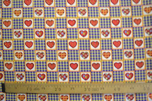 Coeurs dans les carrés