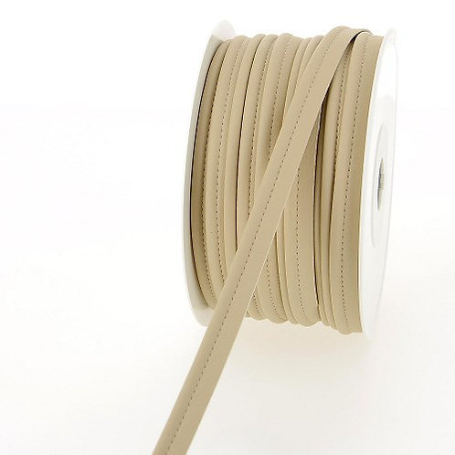 Passepoil simili beige clair en 10 mm