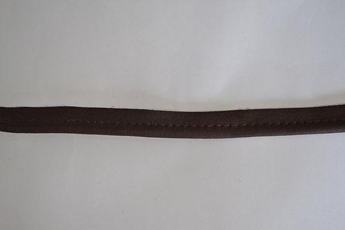 Passepoil simili marron foncé 10 mm