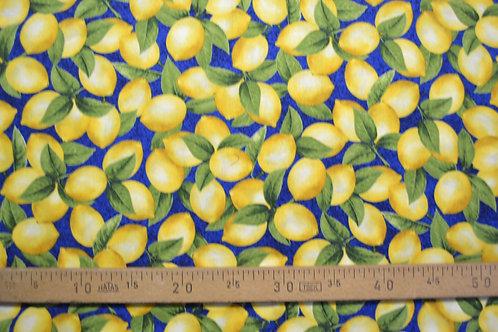 Citrons fond bleu