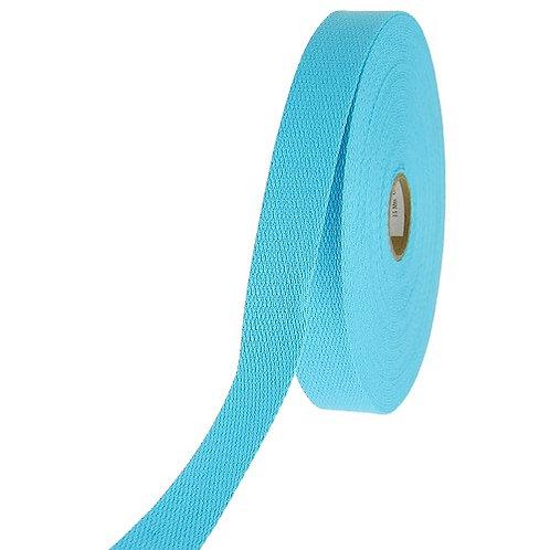 Sangle coton turquoise 40 mm vendu par métre