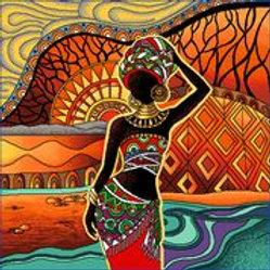 Africaine au bord de l'eau