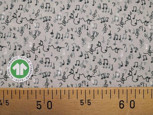 Farandole de notes de musique 50 x 150 cm