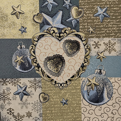 Coeurs bleu de noel