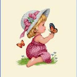 La petite fille au papillon