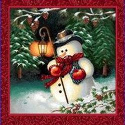 Bonhomme de neige à la lanterne