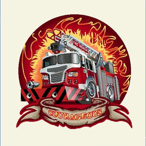 Carré - Camion de pompier