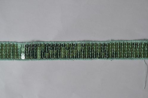 Ruban sequins carré 20 mm vert d eau