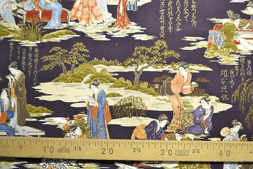Japonaises fond violet