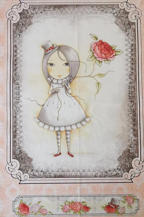 Mirabella Santoro et la rose fond saumon