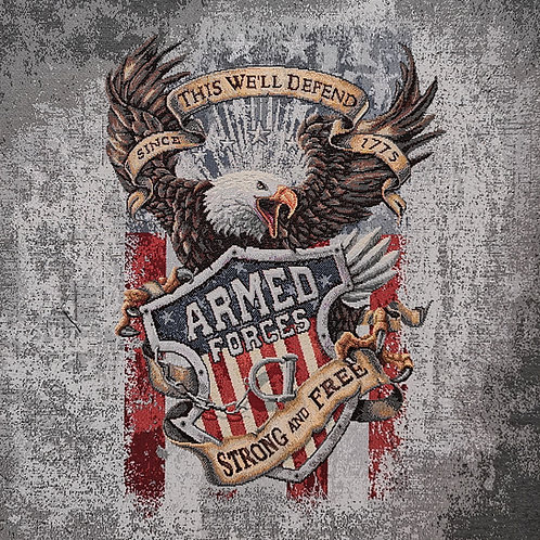 Carré - Aigle Americain fond gris