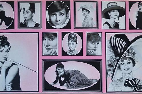 Audrey Hepburn rose et noir