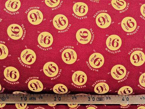 9 3/4 rouge et jaune en flanelle