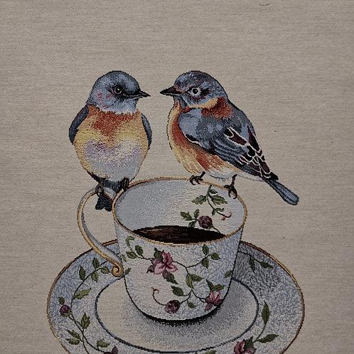 Oiseaux sur la tasse