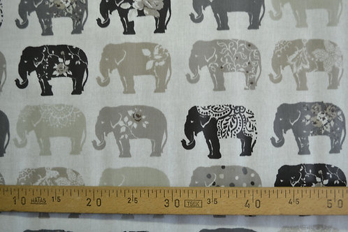 Éléphant pvc noir gris taupe