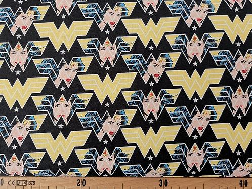 Logo Wonder Woman fond noir