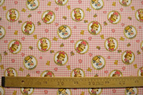 Bulles de petites filles vintage fond rose