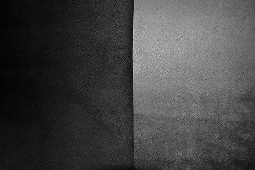 Suédine double face noir/gris souris