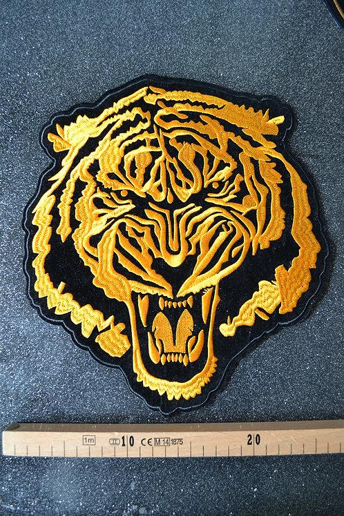 Tigre orange fond noir