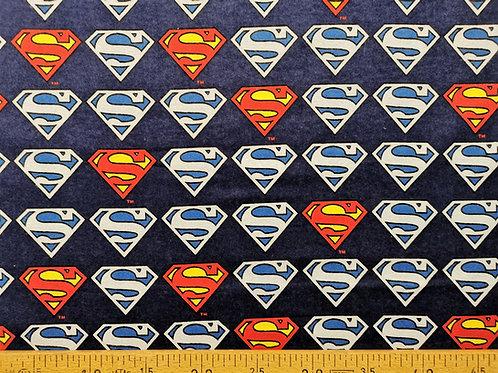 Logo superman en flanelle