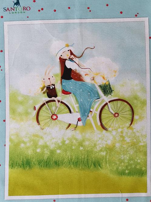 Kory Kum Santoro à bicyclette
