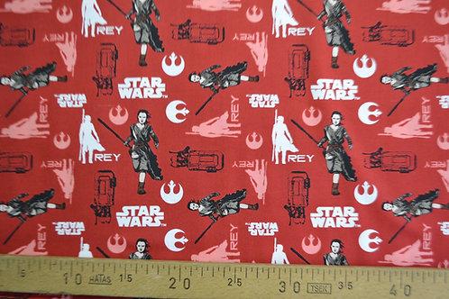 Star wars Rey fond rouge