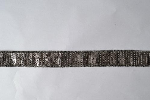 Ruban sequins carrés gris mat
