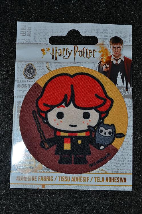 Écusson HP Ron, chouette et baguette