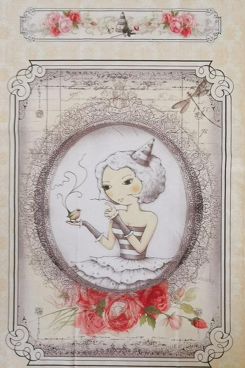 Mirabella Santoro et l'oiseau fond beige