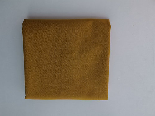Doublure coton ameublement moutarde