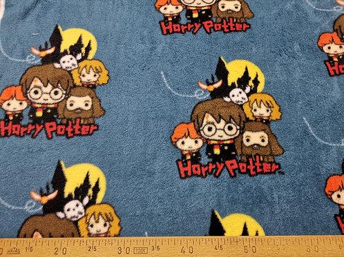Emojis HarryPotter sur fond bleu en polaire