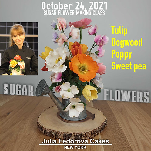 Salt Lake City October 24, 2021. Poppy, Tulip, Dogwood and Sweet pea
