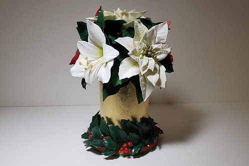 December 12, 2020.  Poinsettia Sugar flower