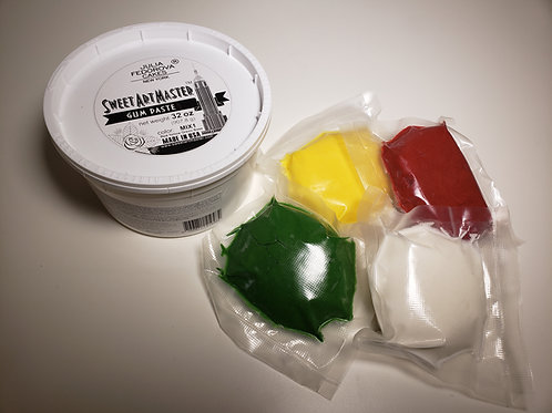 Gum paste Mix of Red, Yellow, Green and Base  32 oz