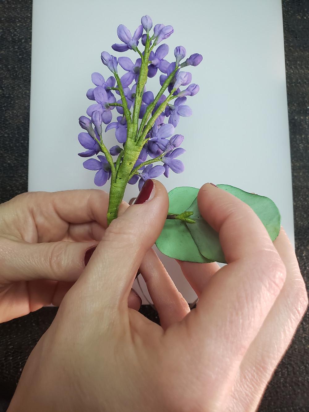 Lilac brunch assembling