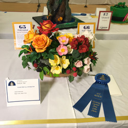 First place. Flower basket. National