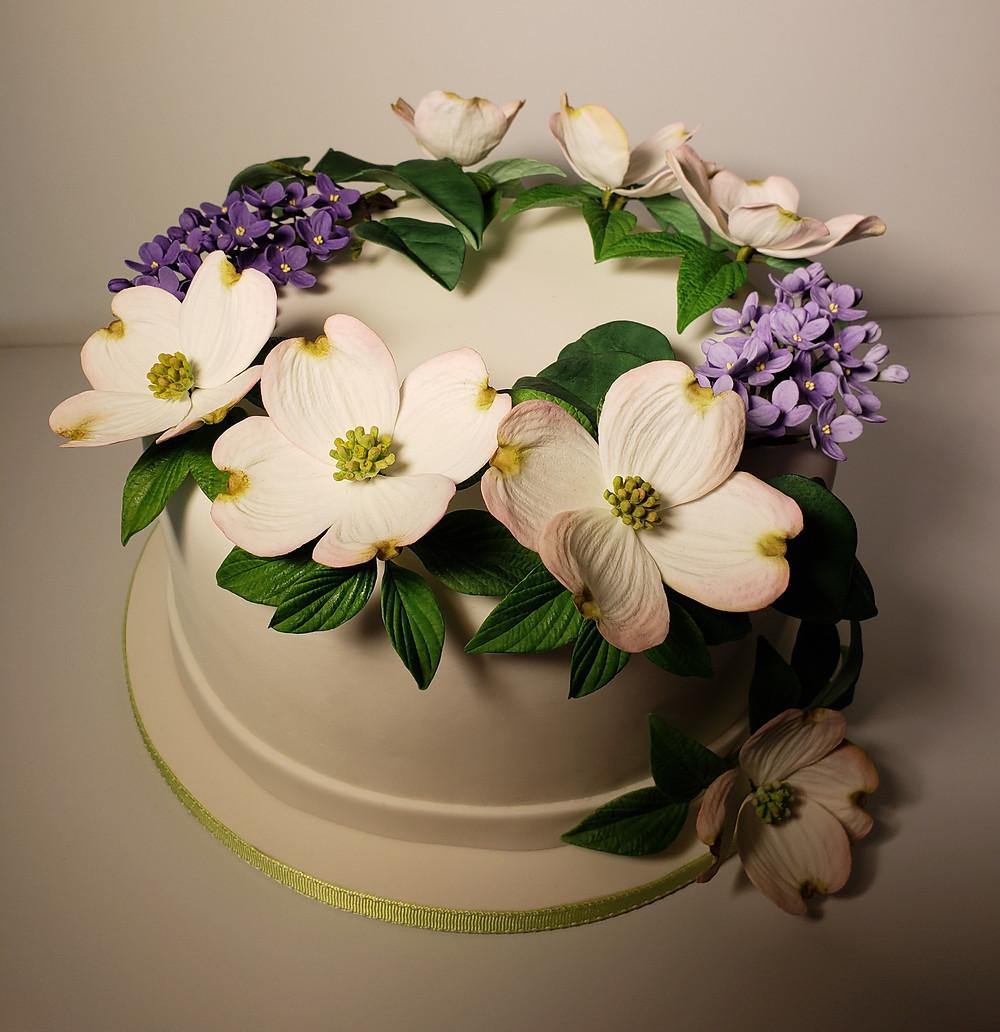 Free tutorial Spring Cake by Chef Julia Fedorova, New York