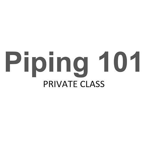 Piping 101 Collar November 15, 2019 Private class