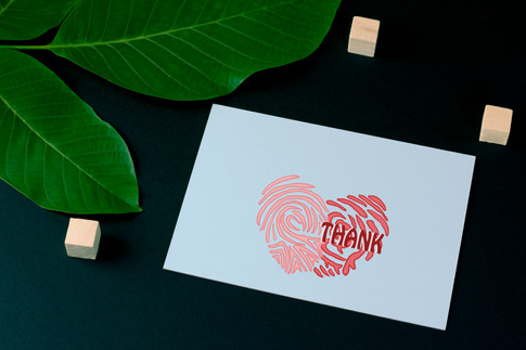 Thank you card-back mock up