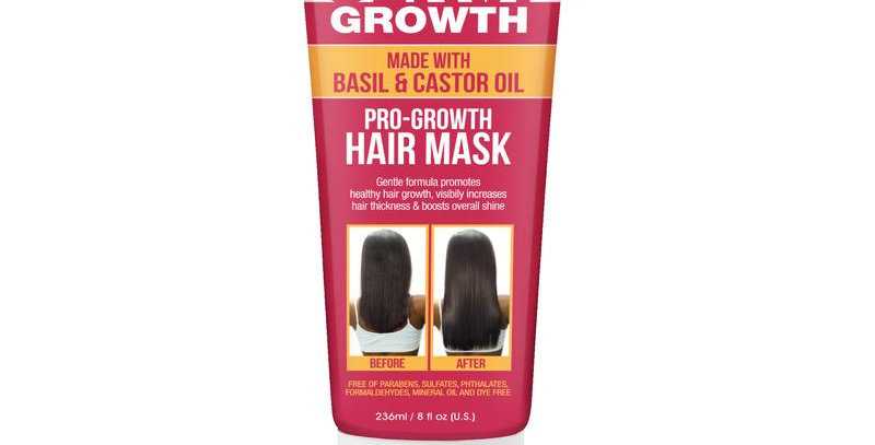 DIFEEL ULTRA GROWTH BASIL & CASTOR OIL PRO GROWTH HAIR MASK 8 OZ. / 236 ml