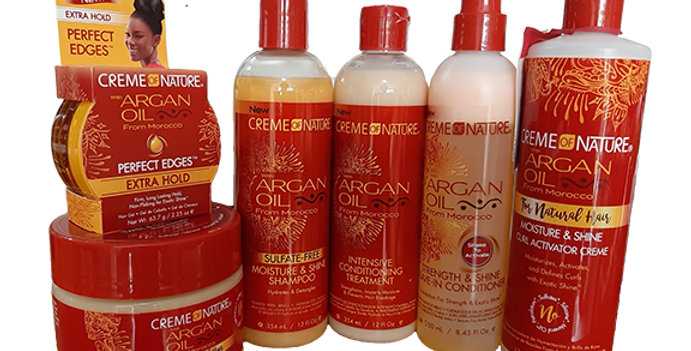 Creme of Nature Argan Oil Cleanse, condition & Style Bundle