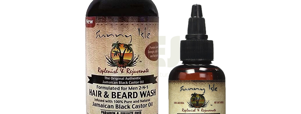 Sunny Isle Jamaican Black Castor Oil Beaed Care Duo