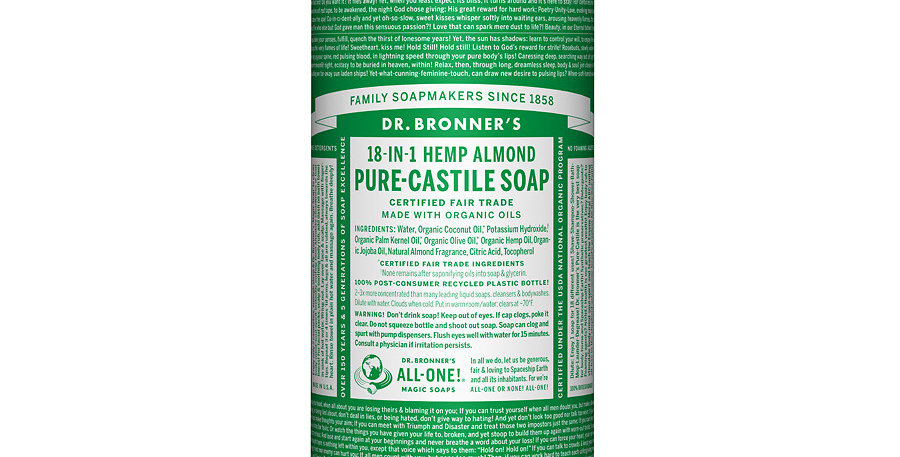 Dr. Bronner's Pure Castile Liquid Soap Hemp Almond