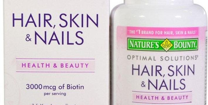 Nature's Bounty Optimal Solutions® Hair, Skin & Nails  60 Caplets