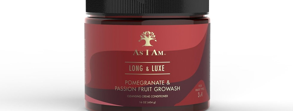As I Am Long & Luxe GroWash Cleansing Creme Conditioner – 16 oz.