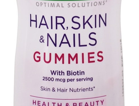 Natures Bounty Optimal Solutions Hair,Skin & Nails Strawberry Gummies