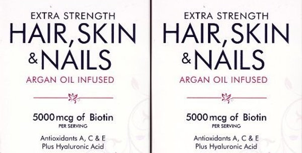 Natures Bounty Optimal Solutions Extra Strength Hair & Skin Nails 250 Soft Gels