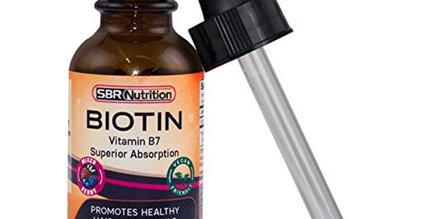 SBR Nutrition Biotin Liquid Biotin, Mixed Berry flavor, 5000mcg  30ml